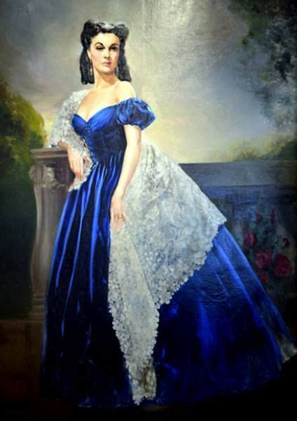 The original oil painting of Scarlett O'Hara, the one from