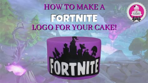 How to make a Fortnite logo for your cake! - YouTube
